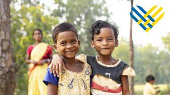 Barn i Indien.