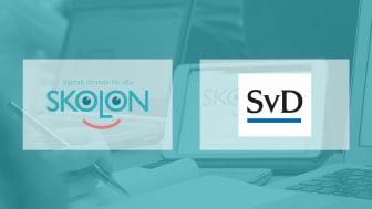 Skolon inleder ett unikt samarbete med Svenska Dagbladet - ett samarbete som innebär att tidningens digitala tjänst SvD Skola blir tillgänglig kostnadsfritt i Skolons bibliotek.