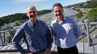 Fra venstre: Anton Hagberg (Komplett) og Eilert G. Hanoa (Visma). Foto: Komplett