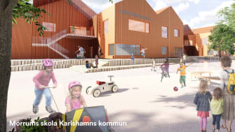En ny toppmodern skola med fokus på hållbarhet och sund arbetsmiljö för elever och personal kommer att stå klar i Mörrum 2022.