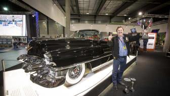 Rune Varpestuen som tilldelades priset Best in Show Amcar, för sin Cadillac Eldorado 1953.