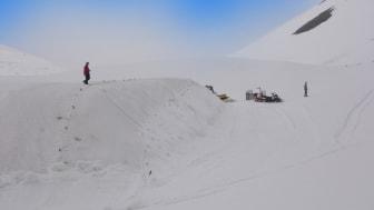 Bisheriges Schneedepot im Engetal