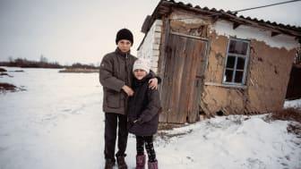 """Sieben Jahre Krieg: Die Kinder in der Ostukraine leben unter Dauerstress. Nach Angaben der SOS-Kinderdörfer verstärkt die Corona-Pandemie ihr Leid in dieser """"Vergessenen Krise"""". Foto: Katerina Ilievska, Luhansk 2014"""