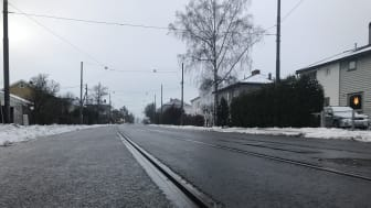 Grefsenveien ferdige trikkespor