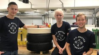 H.C. Ørsted Gymnasiets deltagerhold, Frederik Dyrup, Kristine Rigmor Agergaard Andersen og Mathias Larsen