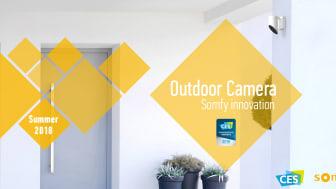 Somfy Outdoor Camera med inbyggd siren, artificiell intelligens och kompatibel med det mesta