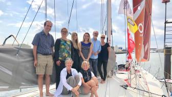 The Saltwater Stone team aboard Superbigou