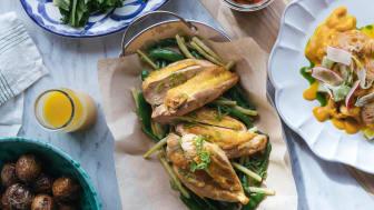 Supreme du poulet,  escabeche & fransk gazpacho