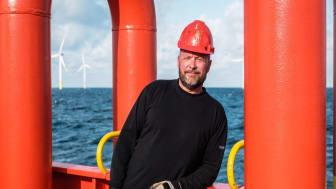 Michael Greve, befaren skibsassistent, tidligere på gruppe 3-skibene 'Esvagt Preventer' og 'Esvagt Charlie', i dag på SOV'en 'Esvagt Faraday' (foto: Ursula Rechnagel Taylor, Søfart)