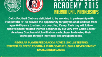 Boka HuFF Sommarakademi vecka 25 och CELTIC FC/HuFF Soccer Academy vecka 32!