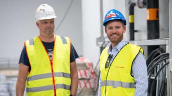 Prosjektleder Torgeir Vreim i Krüger Kaldnes (til høyre). Foto: Krüger Kaldnes.