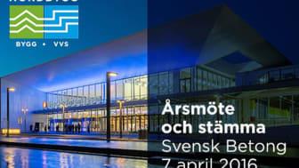 Svensk Betong bjuder in till årsmöte och stämma