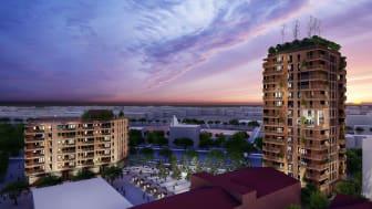 Byggstart för Gavlegårdarnas hållbara  hus i Godisfabriken