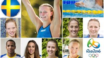 Pressträff med simningens OS-trupp