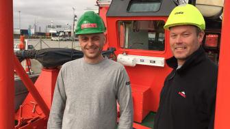 René Kjær (til venstre) og Jimmy B. Rasmussen er glade for den grundigt opdaterede 'Esvagt Preventer'.