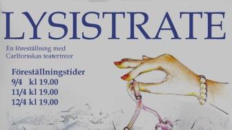 Lysistrate sätts upp på Carlforsska gymnasiet i Västerås