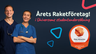 """Praktikertjänst årets raket i Universums undersökning bland studenter kring """"Sveriges Mest Attraktiva Arbetsgivare"""""""
