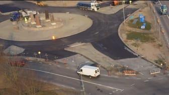 Pressinbjudan: Långebros cirkulationsplats – öppen för trafik