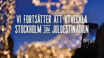 Vi fortsätter att utveckla Stockholm som juldestination