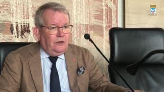 Kommunfullmäktiges ordförande Anders Teljebäck (S) inför kommunfullmäktigemötet 7 oktober