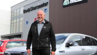 Bodø: Spennende nyhet for mange bilkjøpere, sier daglig leder i M Nordvik, Chriss Marken. Foto: M Nordvik AS