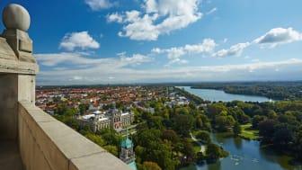 Utsikt over Hannover fra rådhuset © HMTG. Foto: Christian Wyrwa