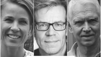 The Sortina core team, from left: lead scientist Sara Rhost, professor Göran Landberg and chairman Anders Waas.