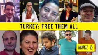 Åtta av de tio fängslade människorättsförsvararnai Turkiet