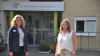 Das neue Leitungsteam des Seniorenzentrums Treysa: Einrichtungsleiterin Lilia Klaus (links) und Pflegedienstleiterin Ilona Nickel.