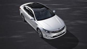 Den helt nye elegante KIA Optima med en førsteklasses kabine og banebrydende teknologi