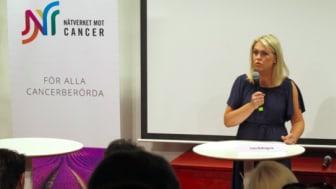 Socialminister Lena Hallengren (S) på Nätverket mot cancers seminarium