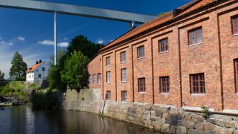 Frövifors Pappersbruksmuseum grundades 1984 och är inrymt i brukets ursprungsmiljö. Foto: Nicklas Tolonen