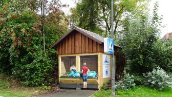 Am Trafo an der Ecke Gerolsbacher Straße/Pfaffenhofener Straße in Schrobenhausen gibt es nun einen Spargelverkaufsstand – wenn auch nur als Spraykunst.