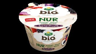 Der neue Arla Bio Fruchtjoghurt in der Geschmacksrichtung Gartenfrucht