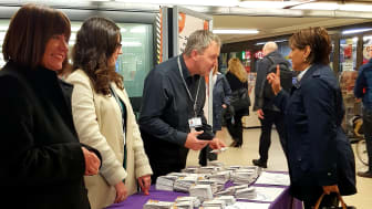 West Midlands Railway managers meet with customers to talk about the upcoming timetable changes
