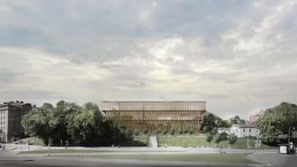 Campus Näckrosen, Göteborgs universitet, parallella uppdrag Korsvägen, Tham & Videgård