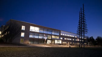 Exteriörbild av SLU:s campus i Umeå. Foto: Jenny Svennås-Gillner, SLU