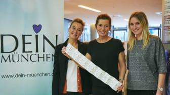 v.l. Astrid Piskora (The Walt Disney Company Germany),  Mara Bertling (DEIN MÜNCHEN), Isabell Dillmann (LHS München, Sozialreferat)