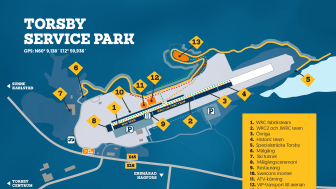 Karta över Torsby Service Park - Rally Sweden