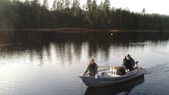 Susanne och Stig i båten på Ore älv 1