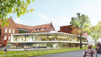 Pressinbjudan: Byggstart för nya LUX vid Lunds universitet - Humaniora och teologi samlas på Helgonabacken