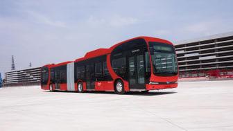 Nobina skal teste to 18 meters batterielektriske leddbusser, med nattlading på bussanlegget på Jernkroken.