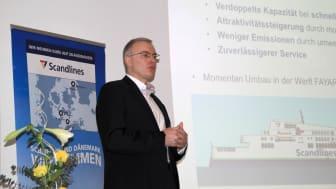 Morten Haure-Petersen, Geschäftsführer der Scandlines Deutschland GmbH