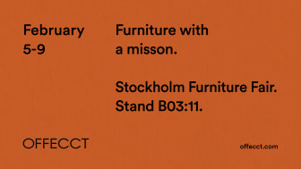 Offecct world premier new releases of original design. Furniture with a mission.