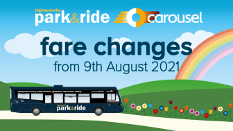Carousel Park&Ride Fares changes from 9th August 2021