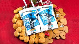 Core Whey Protein i smakerna Lussebulle och Pepparkaka.
