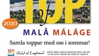 Framsidan på Top of Malå-kortet.