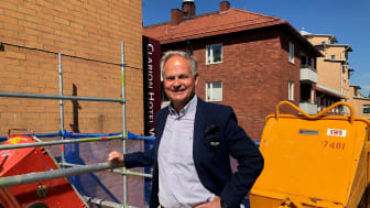 Mikael Junger, hotelldirektör på Clarion Hotel Winn i Gävle.