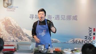 Kokkedemonstrasjon: Under torskefestivalen skal flere kinesere få lære om hvordan norsk torsk kan tilberedes på det kinesiske kjøkken.