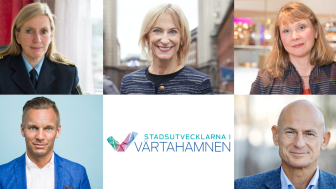 Från vänster i bild: Carin Götblad, Kristina Alvendal, Elisabet Elmsäter Vegsö, Erik Slottner och PG Persson.